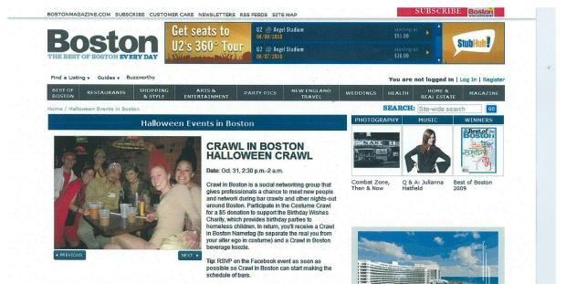 Crawl In Boston in Boston Magazine