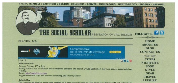 Crawl In Boston on Social Scholar