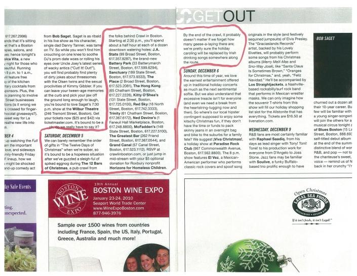 Crawl In Boston in Stuff Magazine