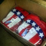 red white brew hats